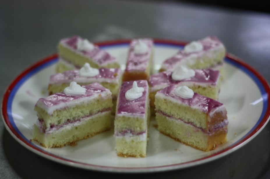 Blackcurrant Cream Pastry Dessert Recipe